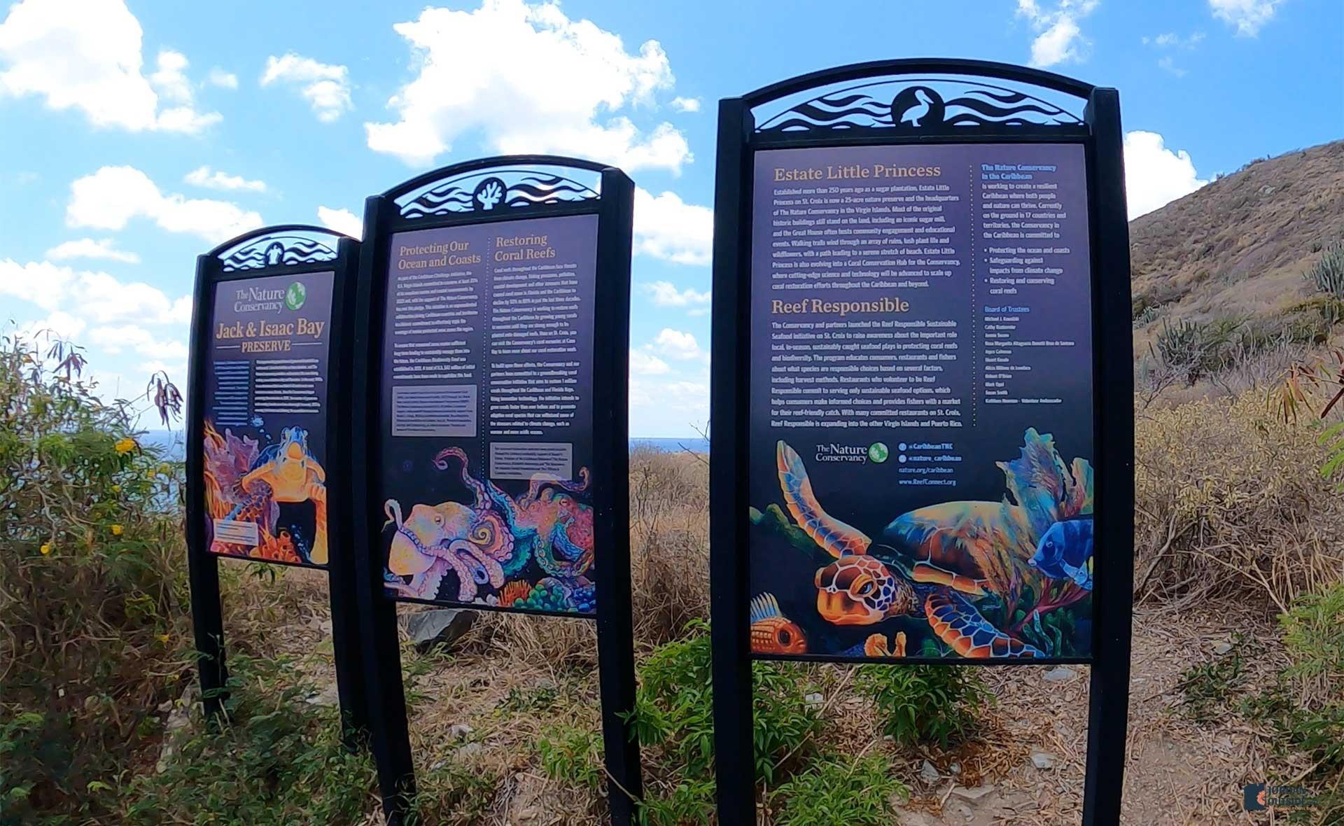 Isaac's Bay Beach Signs