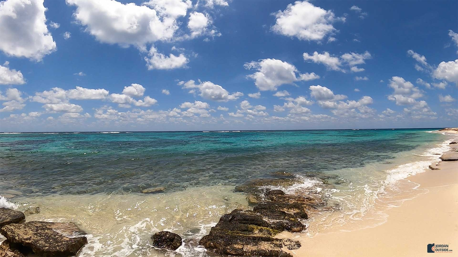 Isaac's Bay Beach with rocks, St. Croix