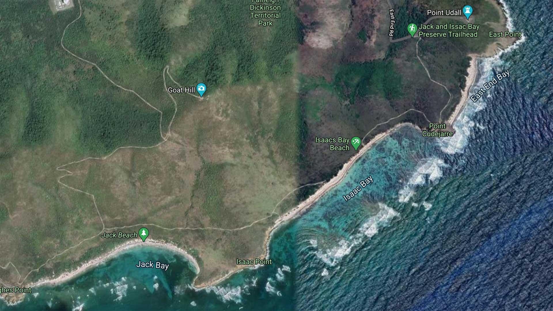Isaac's Bay Beach Map