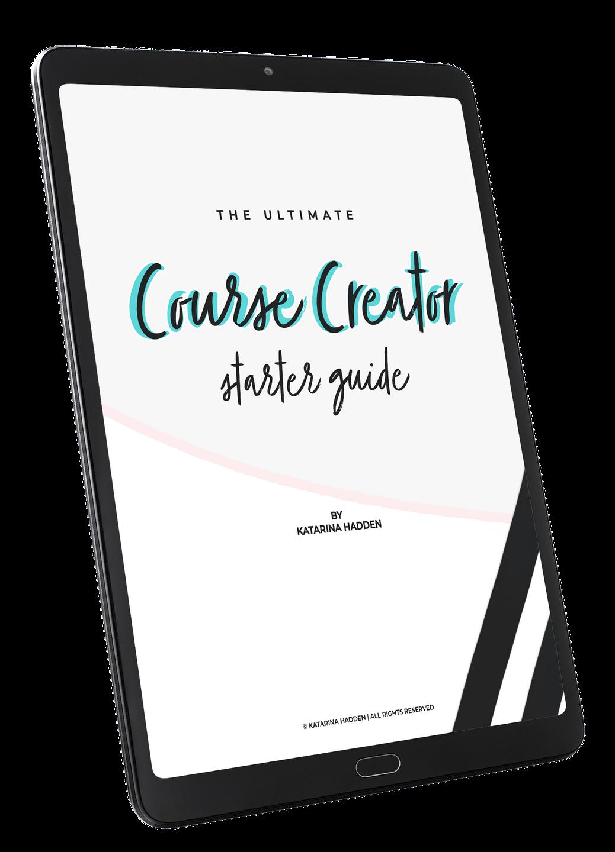 Course Creator Starter Guide