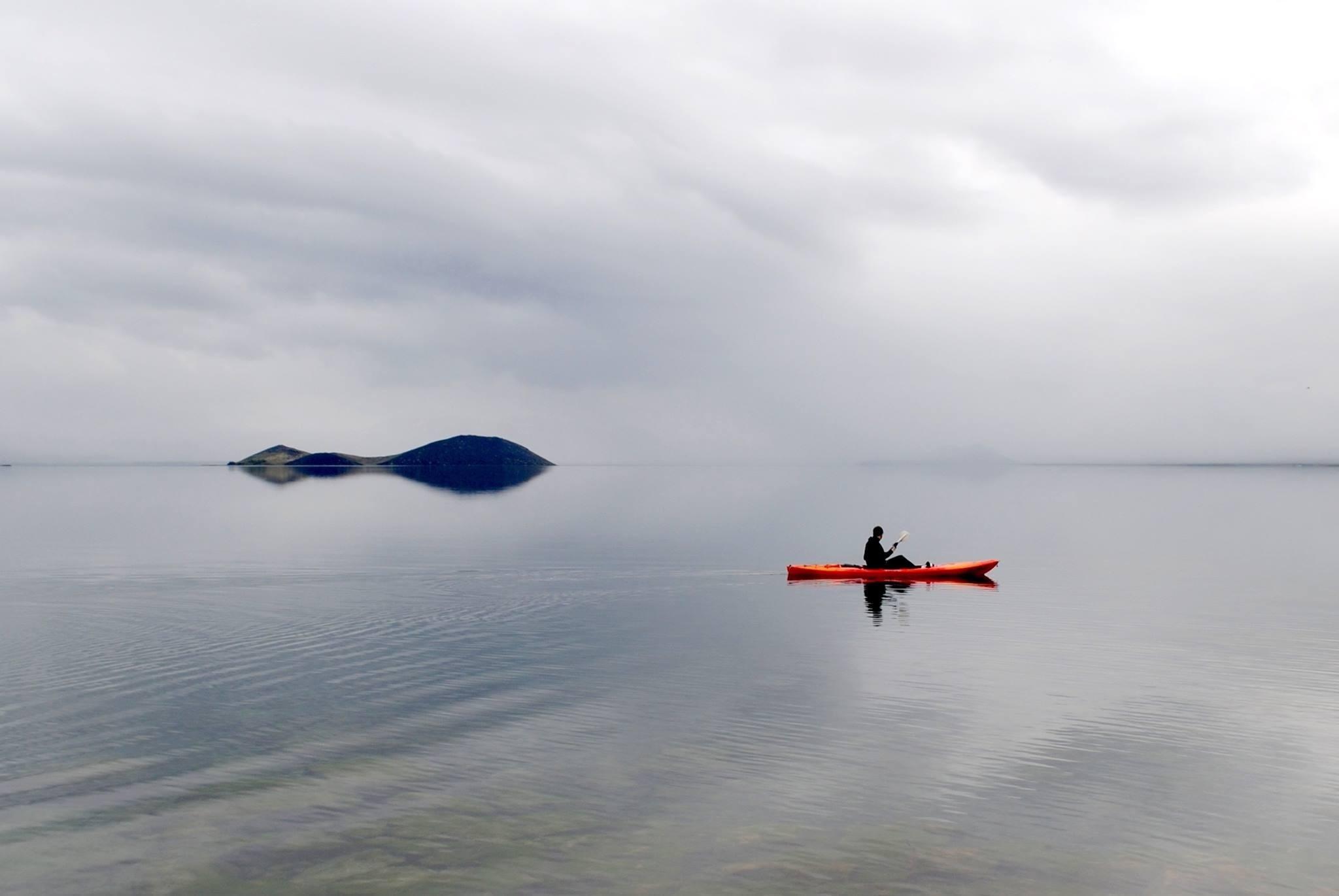 Kayaking in Thingvellir National Park.