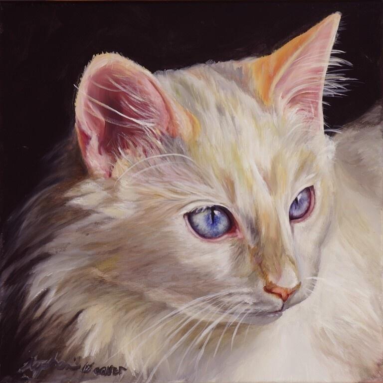 photo to painting pet portrait