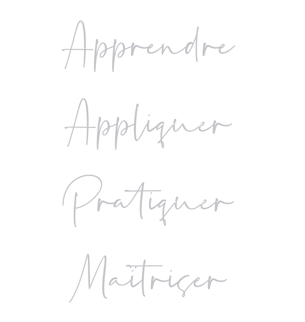 Apprendre – Appliquer – Pratiquer - Maîtriser