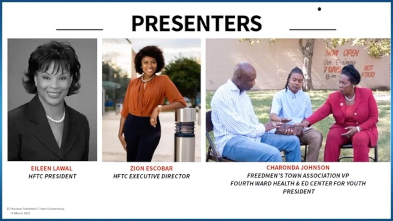 presenters of Freedmen's Town