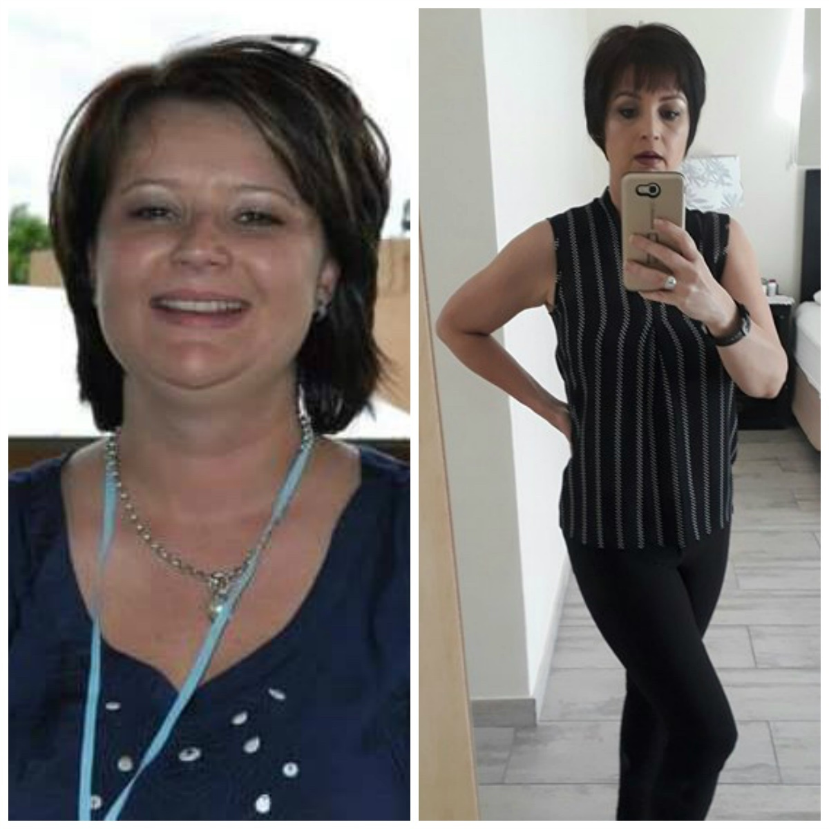 woman before and after picture
