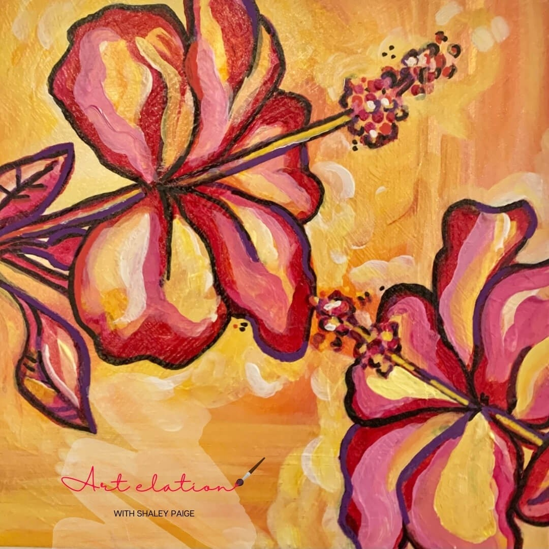 Hibiscus by Shaley Paige at Art Elation