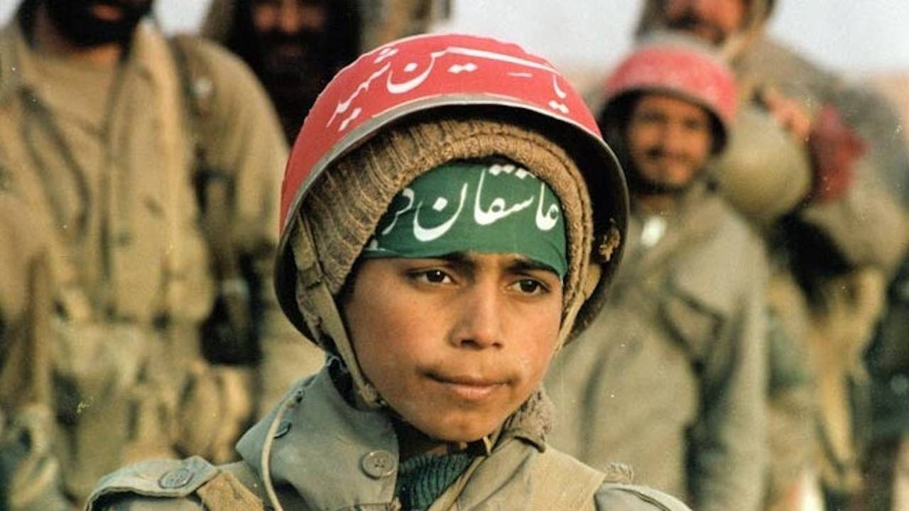 A child soldier in the Iran-Iraq War of the 1980s.