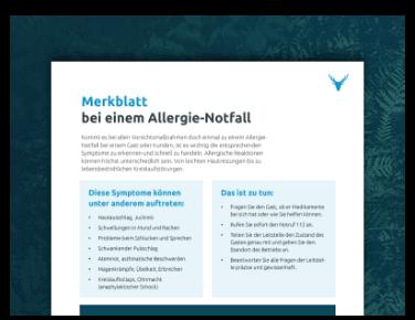 Allergie-Notfall Merkblatt