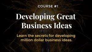 Finding good business ideas entrepreneurship course