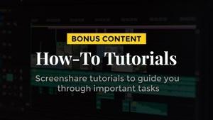 Entrepreneurship how-to tutorial videos bonus content