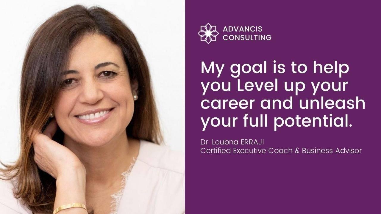 Career coach Dr Loubna Erraji quote