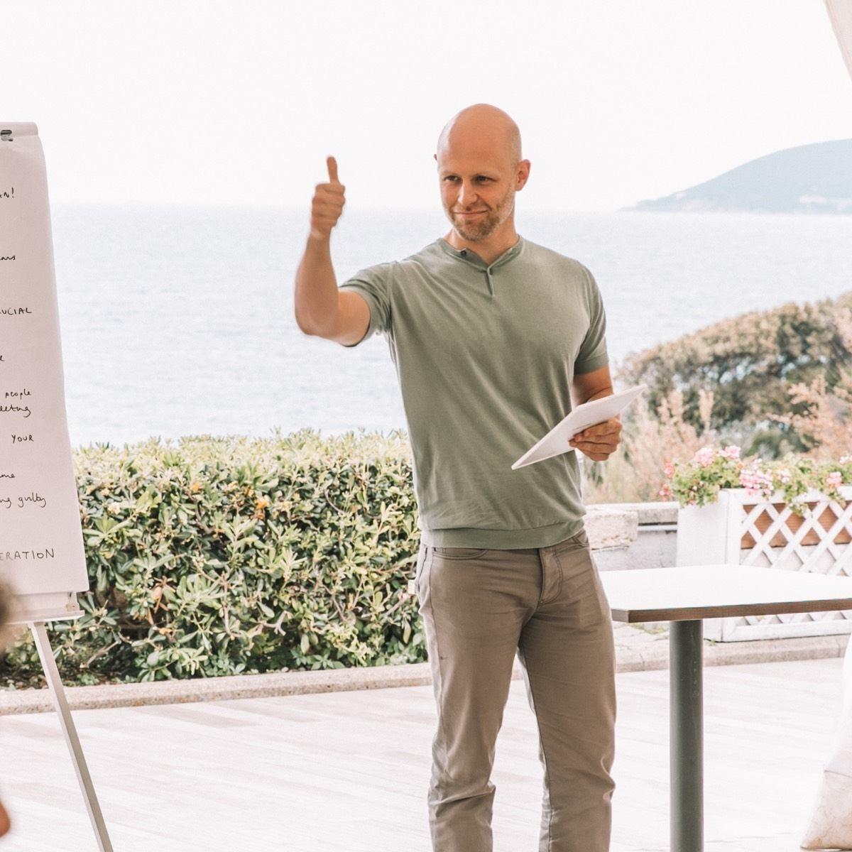 Dave Bailey delivering a CEO workshop