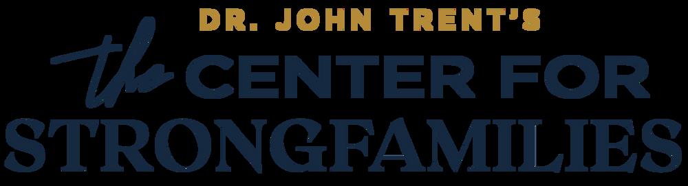 DR. JOHN TRENT'S THE CENTER FOR STRONGFAMILIES LOGO