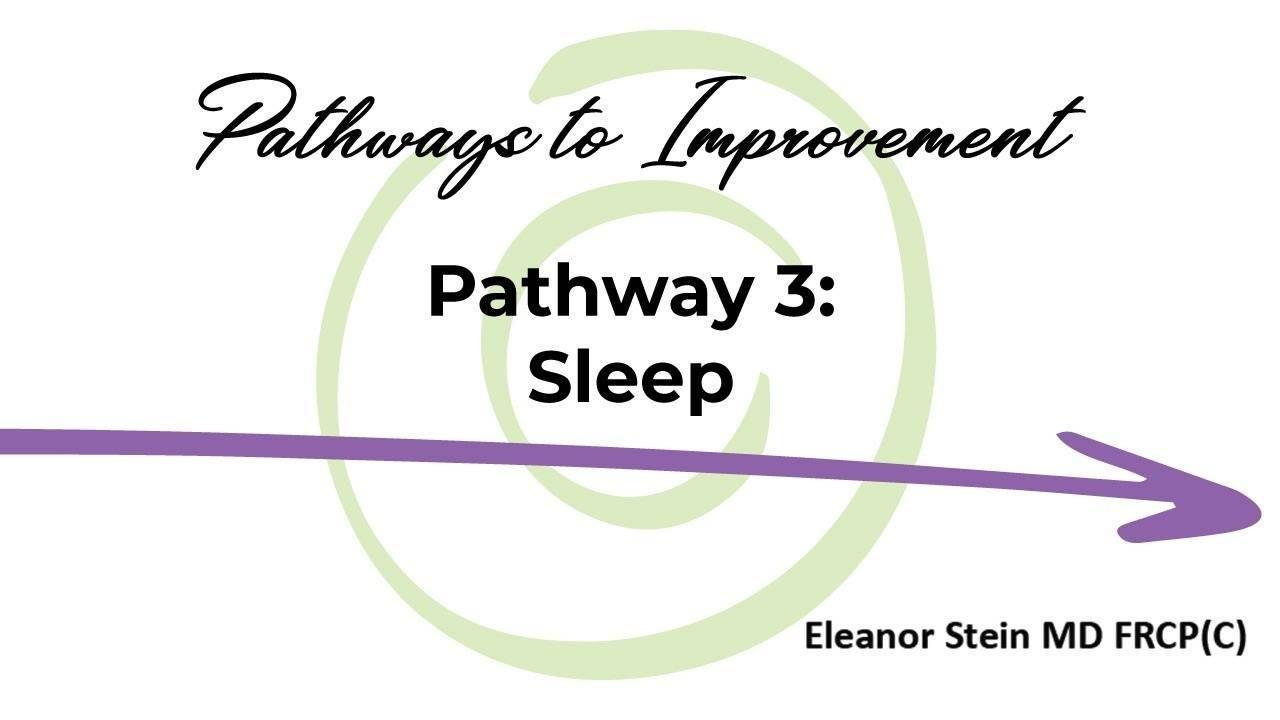 Pathways to Improvement Pathway 3 Sleep