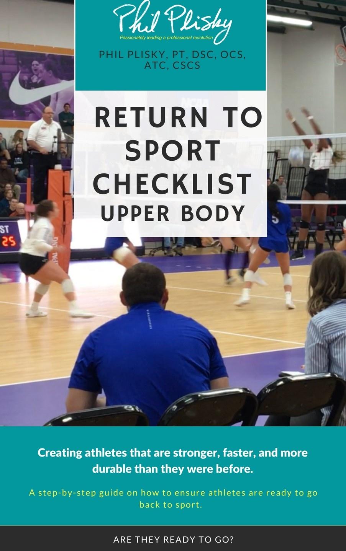 Return to Sport Checklist - Upper Body