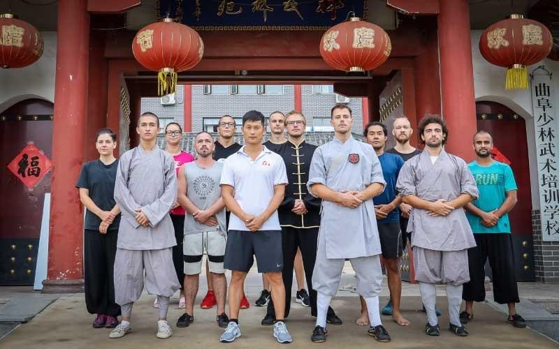 Qufu Shaolin Kung Fu Students and Wei Shifu