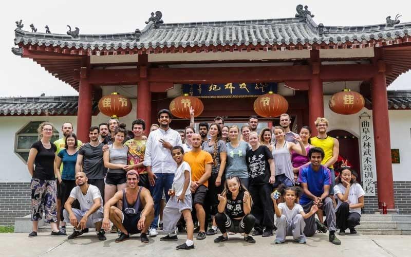 Students at Qufu Shaolin Kung Fu School in China