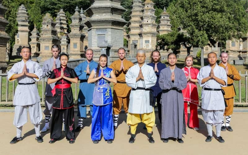 Shaolin Kung Fu Students and Wei Shifu