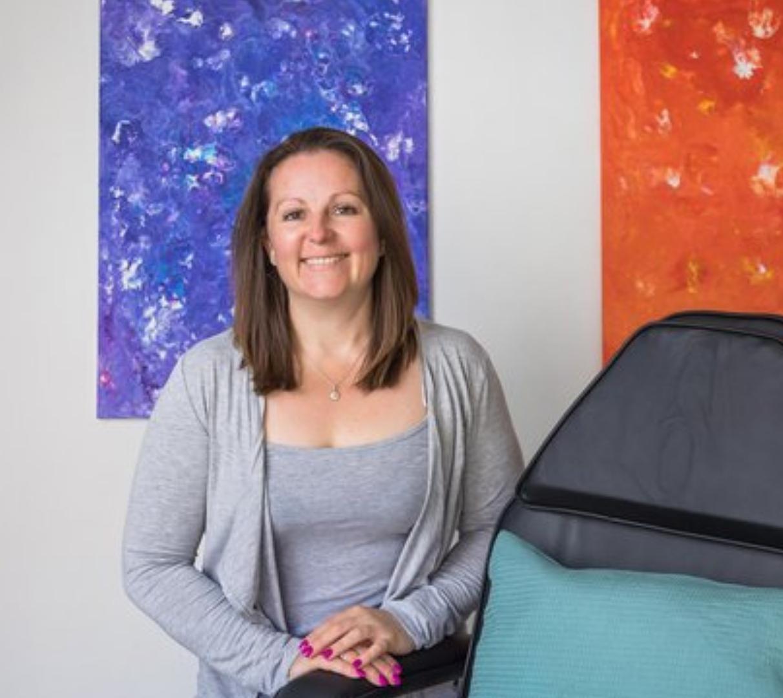 Expert coach energy healer smiling woman