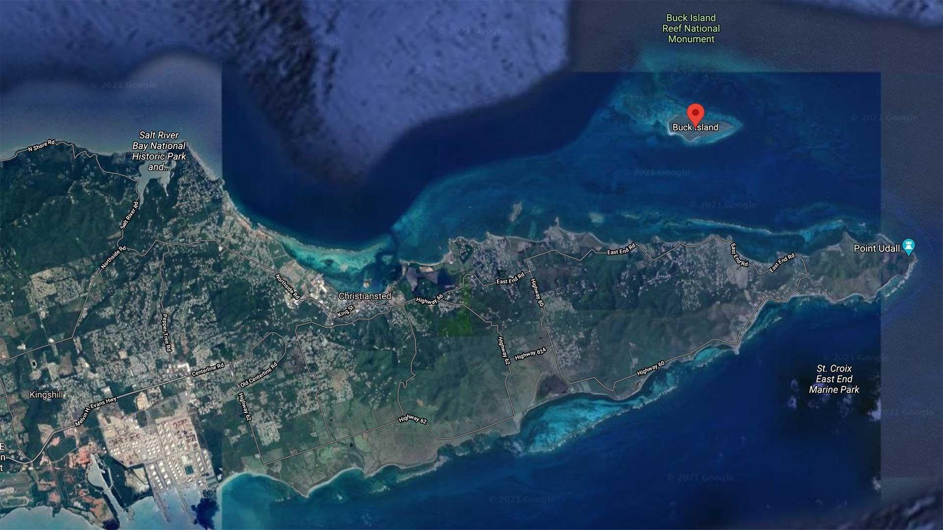Buck Island Map