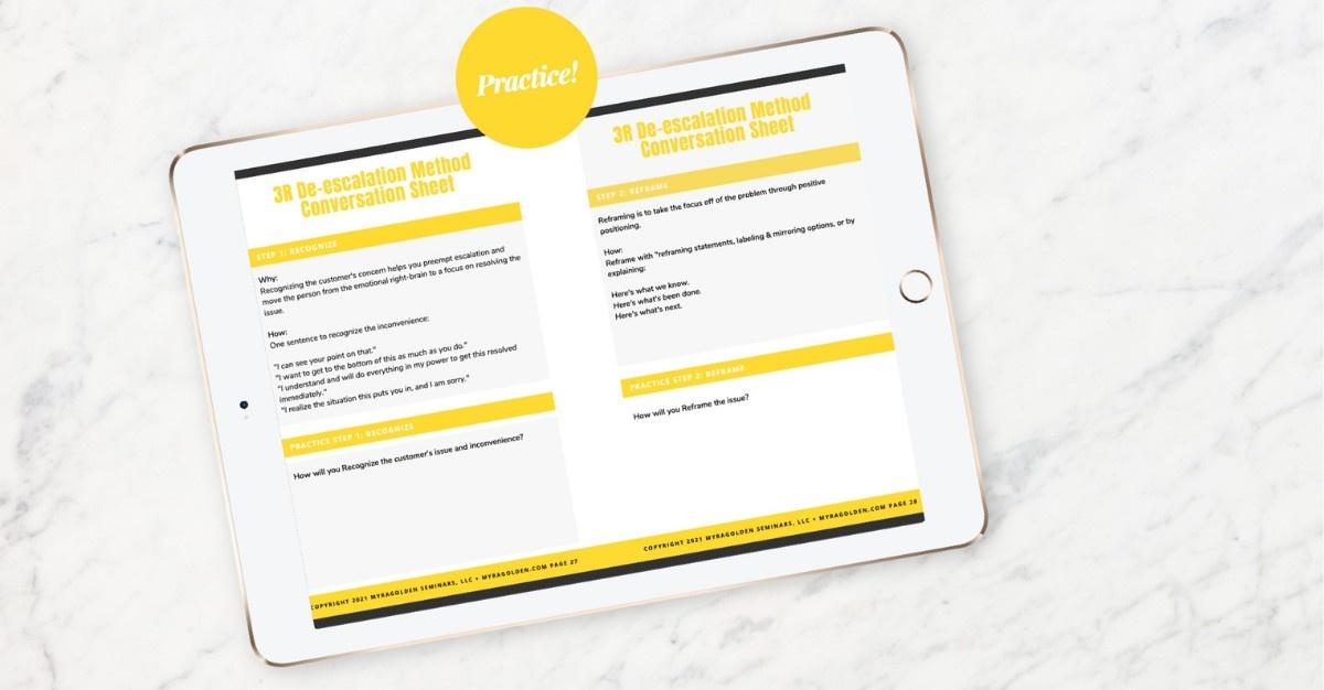 Worksheet sample on iPad