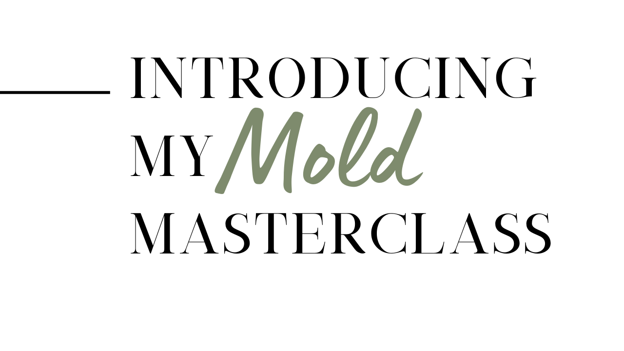 My Mold Masterclass is a step by step mold detox protocol.