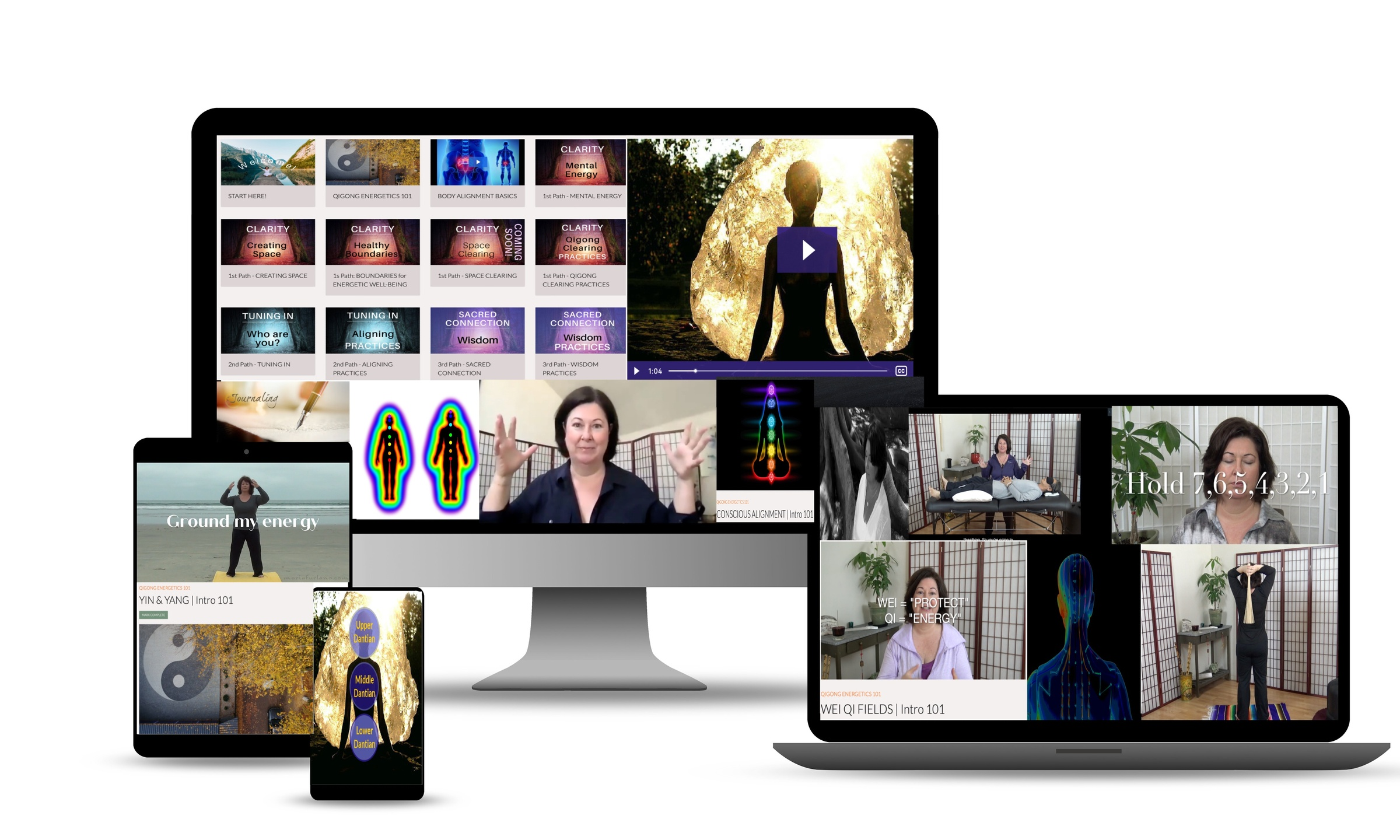 online template with images of the online healers studio the art of tuning in