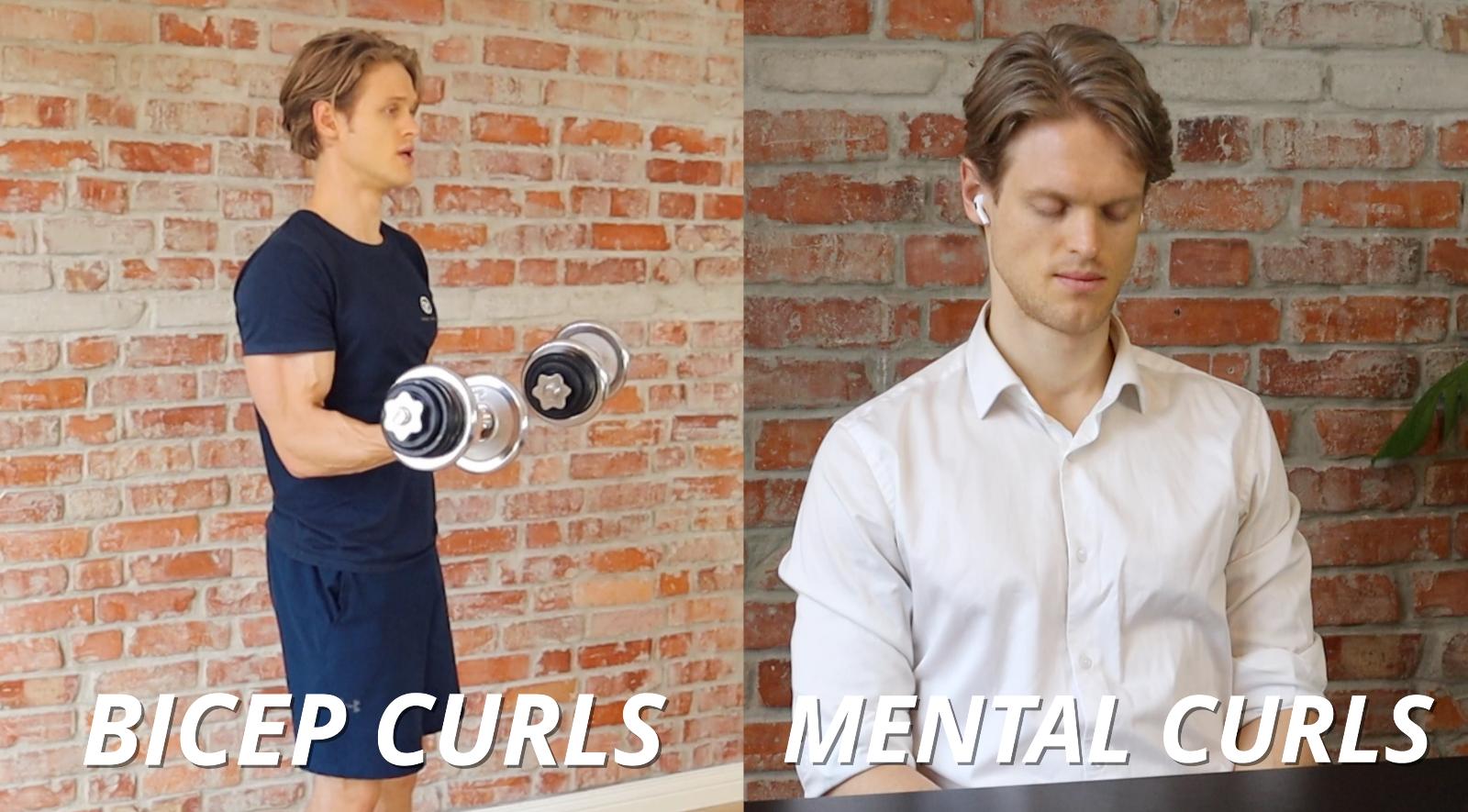 mental bicep curls with mediation