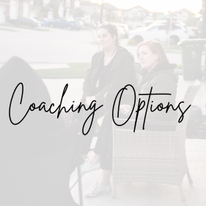 Coaching Options and what we offer