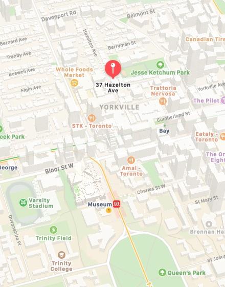 Map of Toronto Office Location