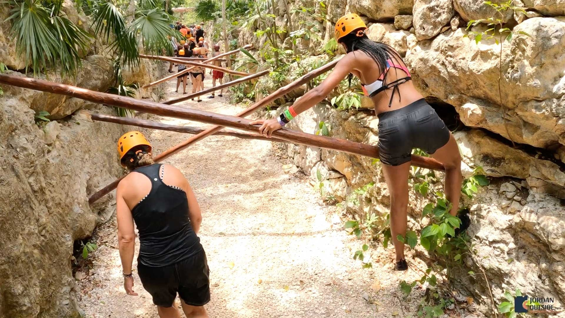 Log climb at Xplor
