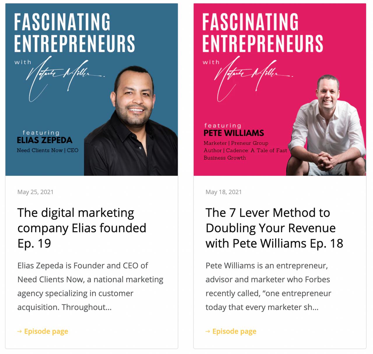 Fascinating Entrepreneurs Website