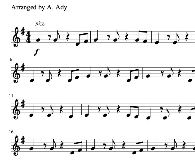 Stand by Me Sheet Music for Beginner Violin Free