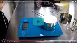 How to weigh your ingredients.