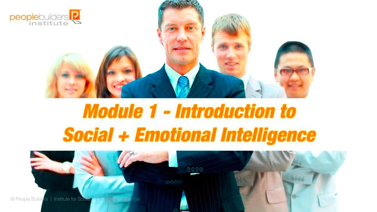 Module 1 Social and Emotional Intelligence Certification
