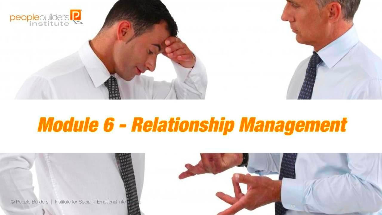 Module 6 Social and Emotional Intelligence Certification