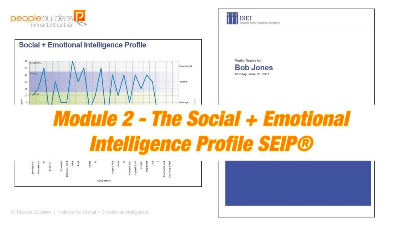 Module 2 Social and Emotional Intelligence Certification