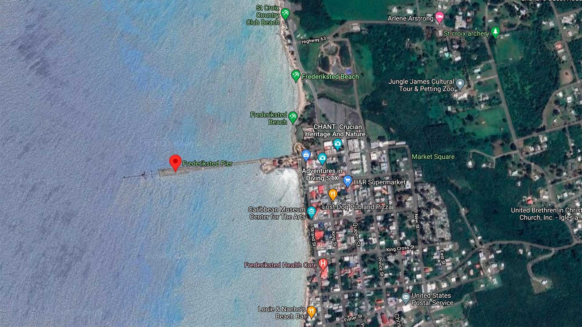 Frederiksted Pier Map