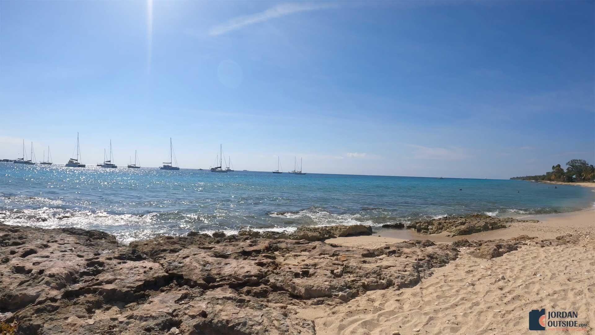The end of Frederiksted Beach, St. Croix