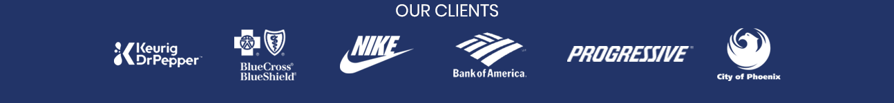Our negotiation training clients include Nike, Bank of America, BlueCross BlueShield, Progressive, and the City of Phoenix.