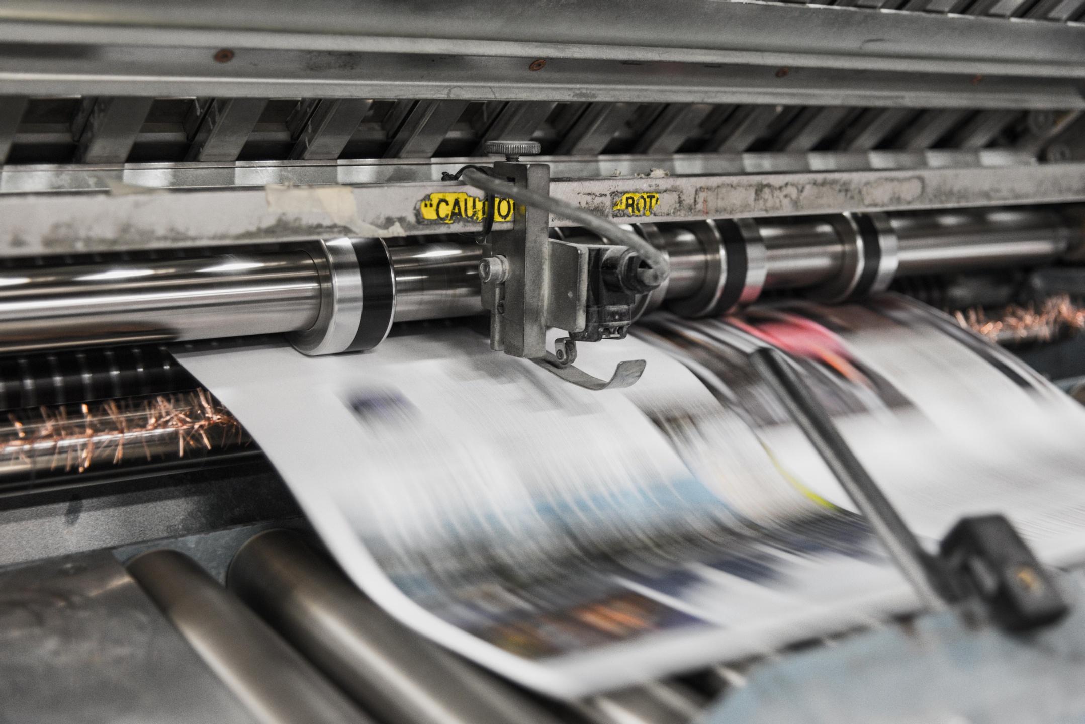 A photo of a printing machine