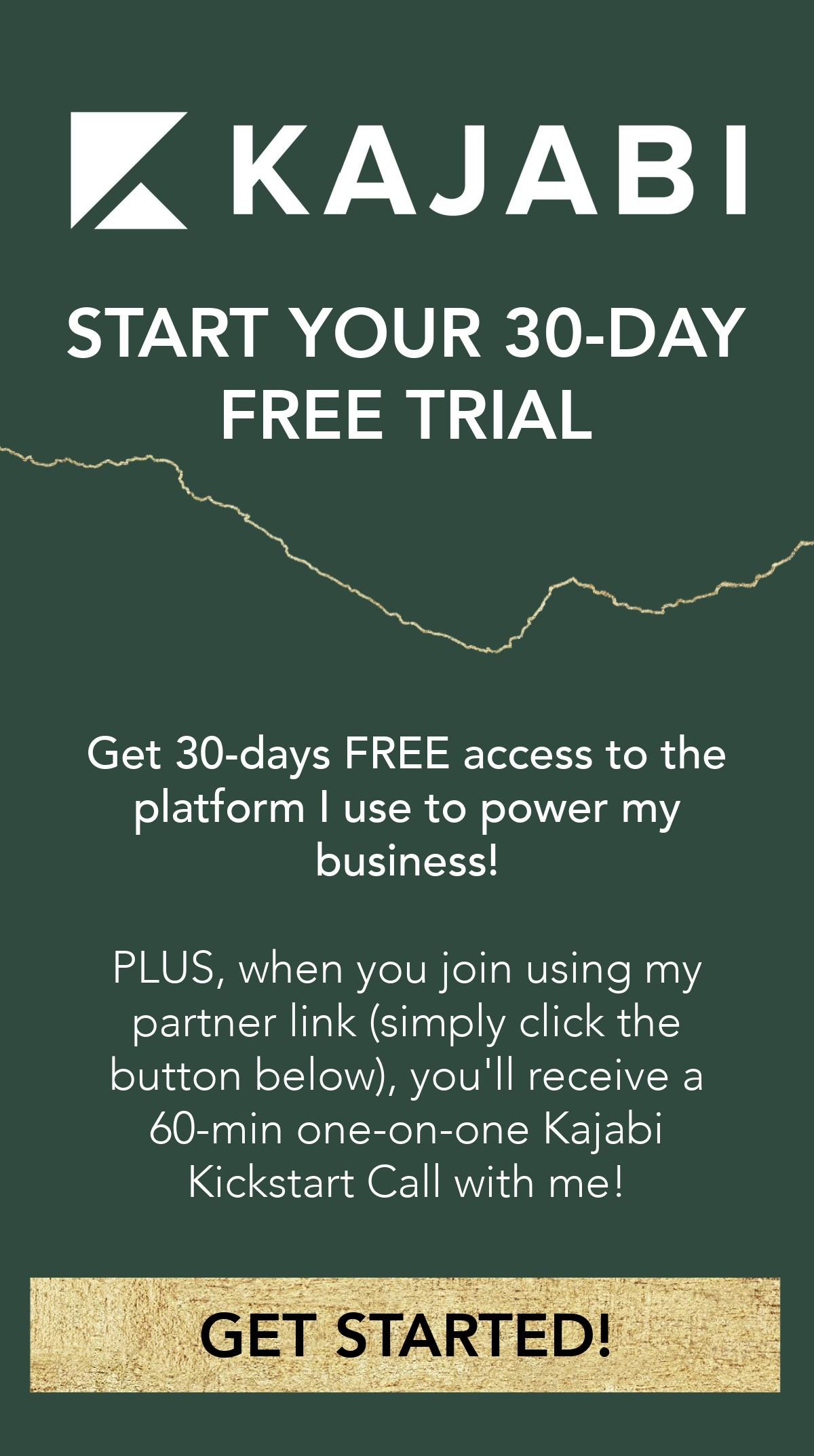 Kajabi 30-day free trial