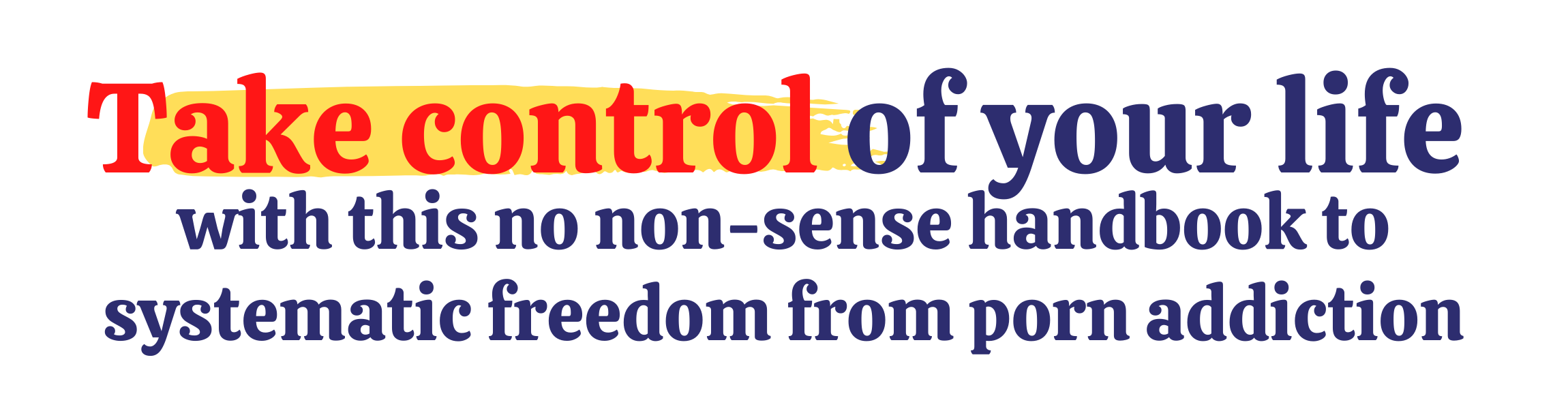 take control of your life with this no non-sense handbook to systematic freedom from porn addiction