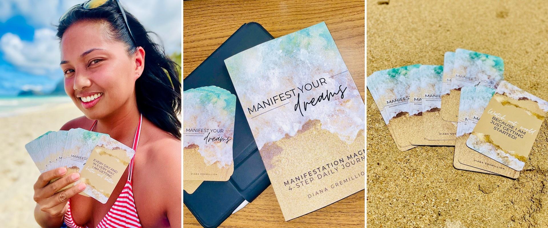 Manifest Your Dreams Affirmation Cards and Journal Bundle