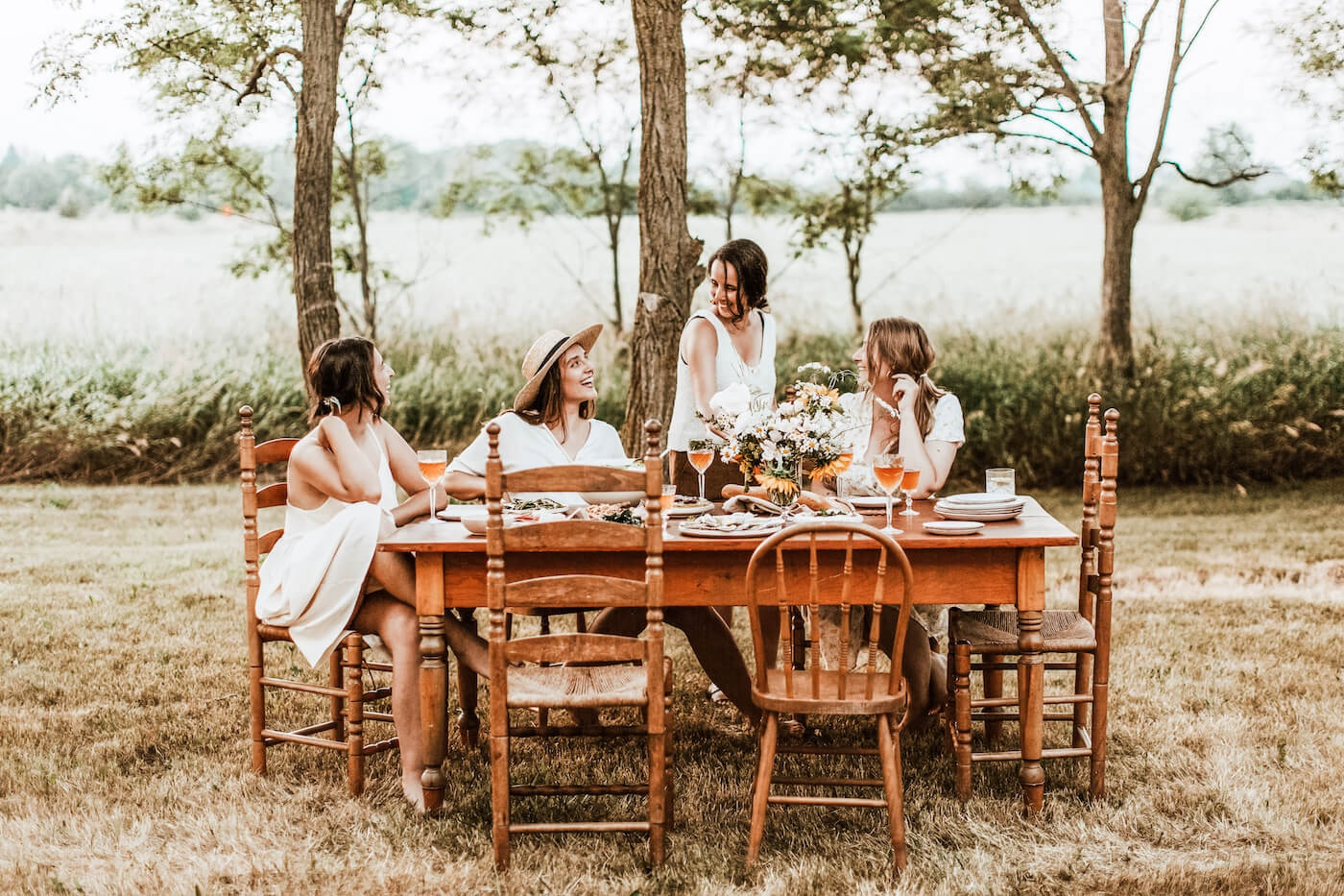 Photo of Women Enjoying a Meal Together