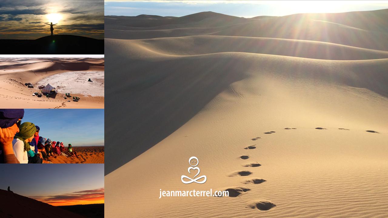 randonnée méditation en pleine conscience désert