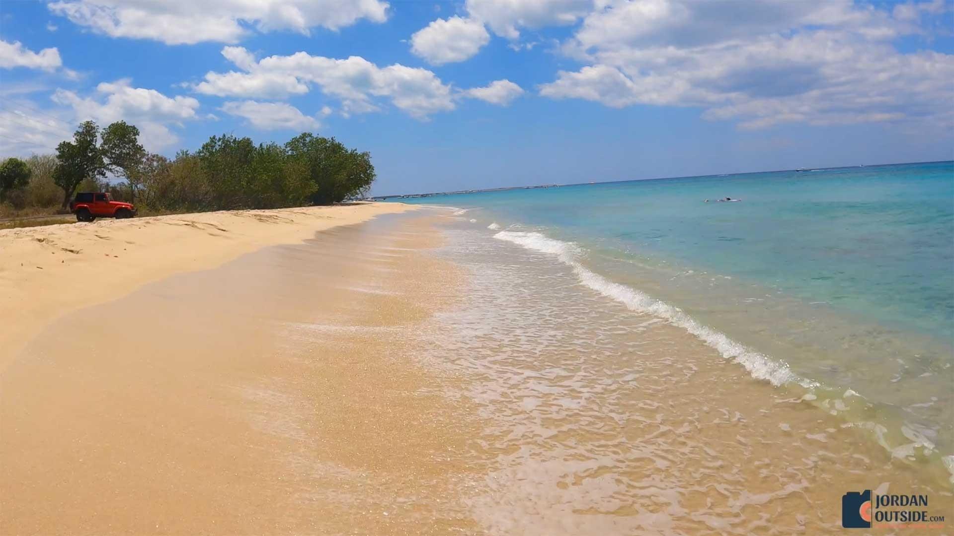 Soft sand on Sprat Hall Beach, St. Croix