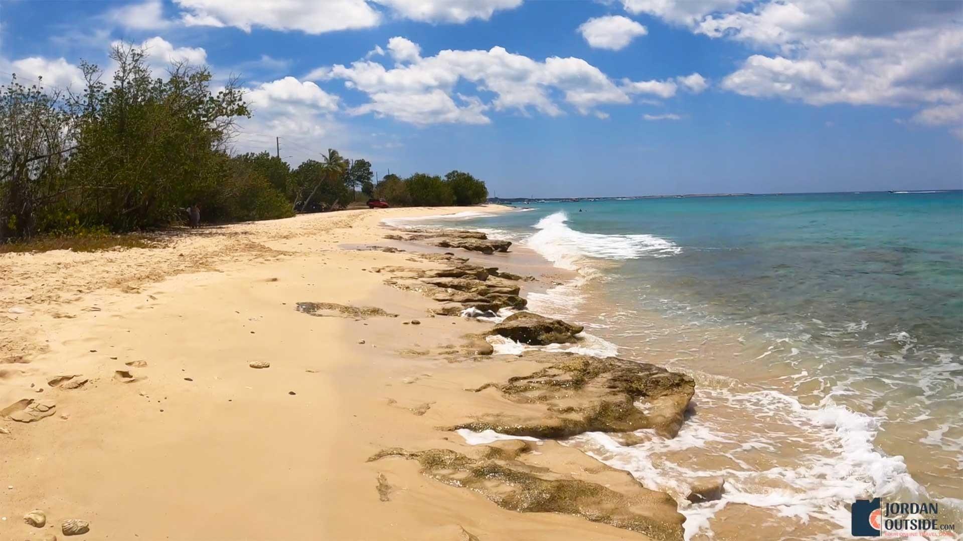 Rocky area on Sprat Hall Beach, St. Croix