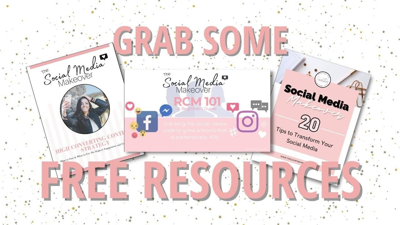 Want some free resources to help you  grow your online business and reduce as much overwhelm and stress as possible?