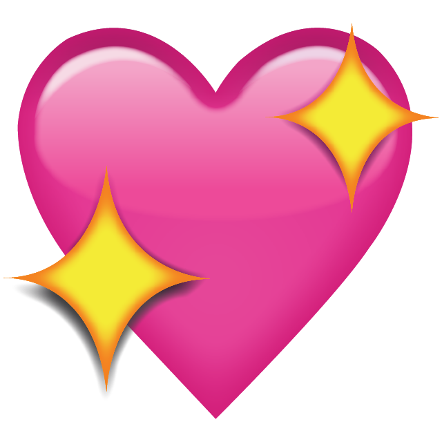 pink heart with sparkles emoji